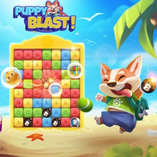 Puppy Blast Match-3 Game